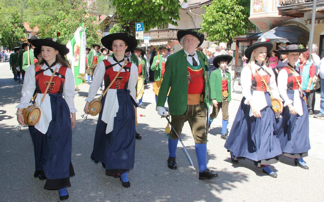 Besuch in Mittenwald beim 24. Bataillons- und 60. Wiedergründungsfest!